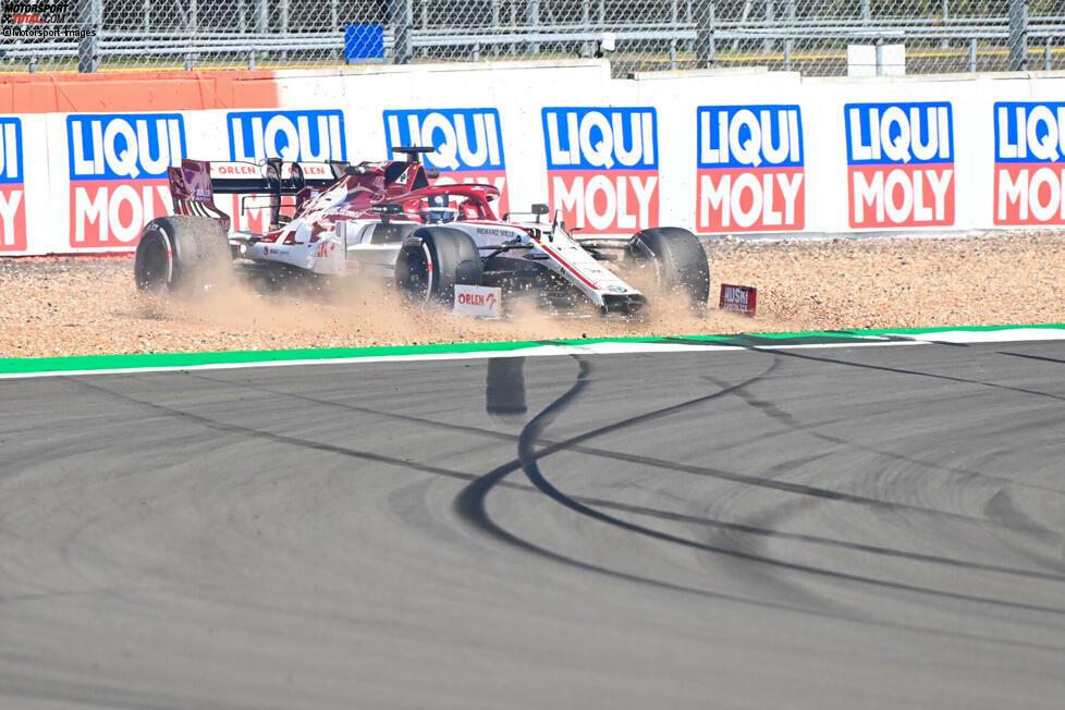 Kimi Räikkönen (5): Zum zweiten Mal in Folge die einzige 5, das tut weh! Ob der