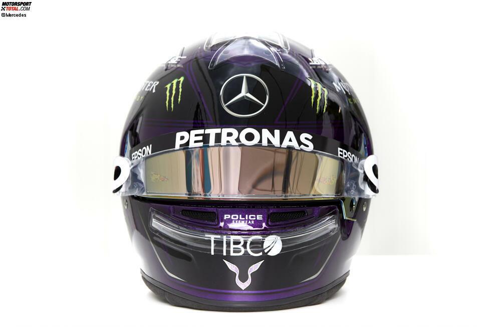 Lewis Hamilton setzt in der Formel-1-Saison 2020 auf ein komplett neues Helmdesign.