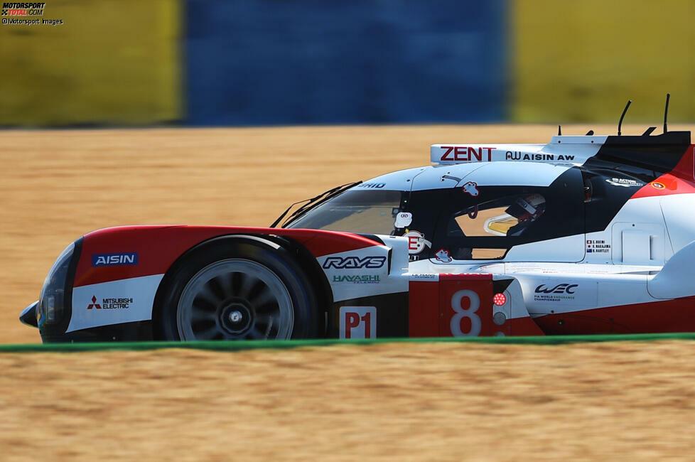 P2 LMP1: Toyota #8 (Buemi/Nakajima/Hartley) - 3:17.336 Minuten