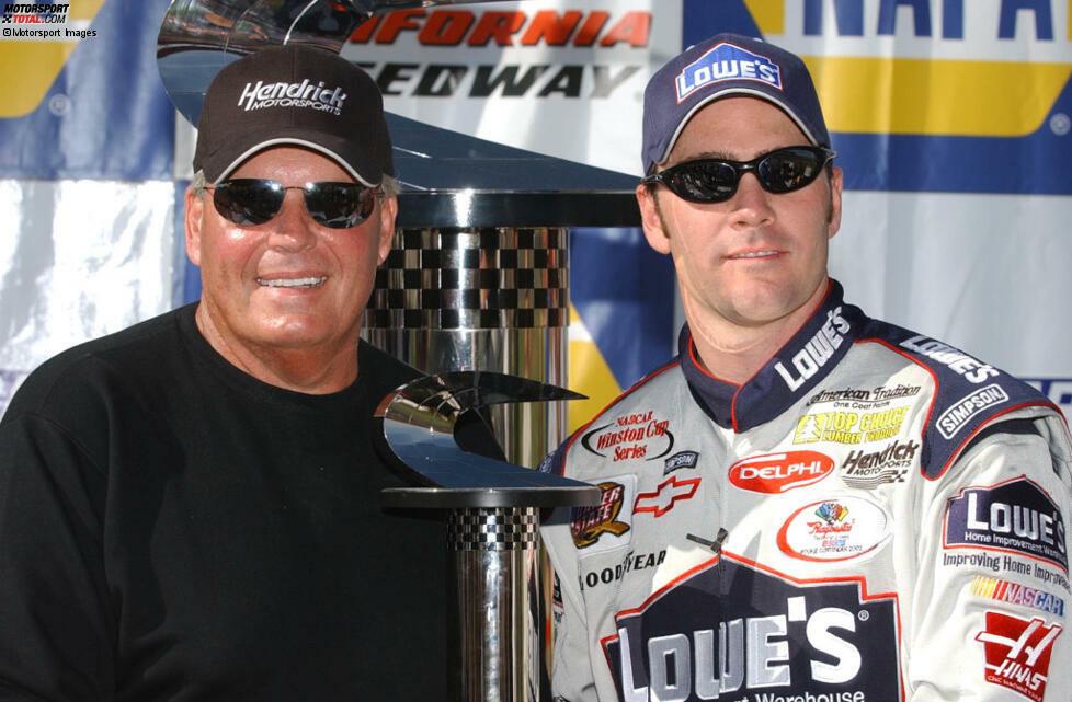 #1: Fontana 2002 - erster Sieg (im Alter von 26 Jahren als Rookie beim 13. Rennen)