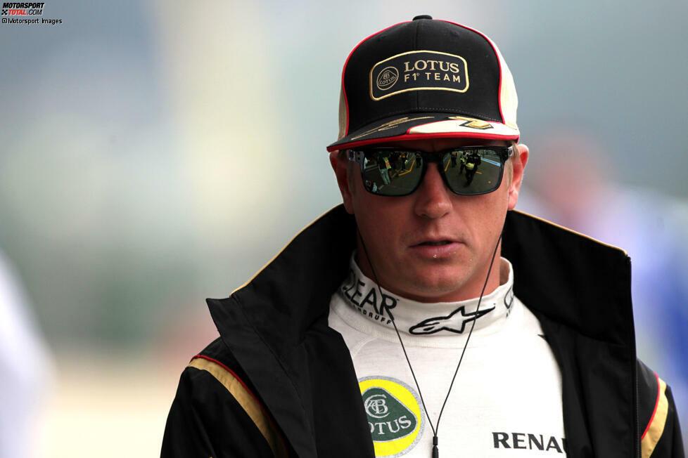 2013 sagt Jordan voraus, Lotus-Fahrer Kimi Räikkönen würde für 2014 zurück zu Ferrari wechseln, und ...