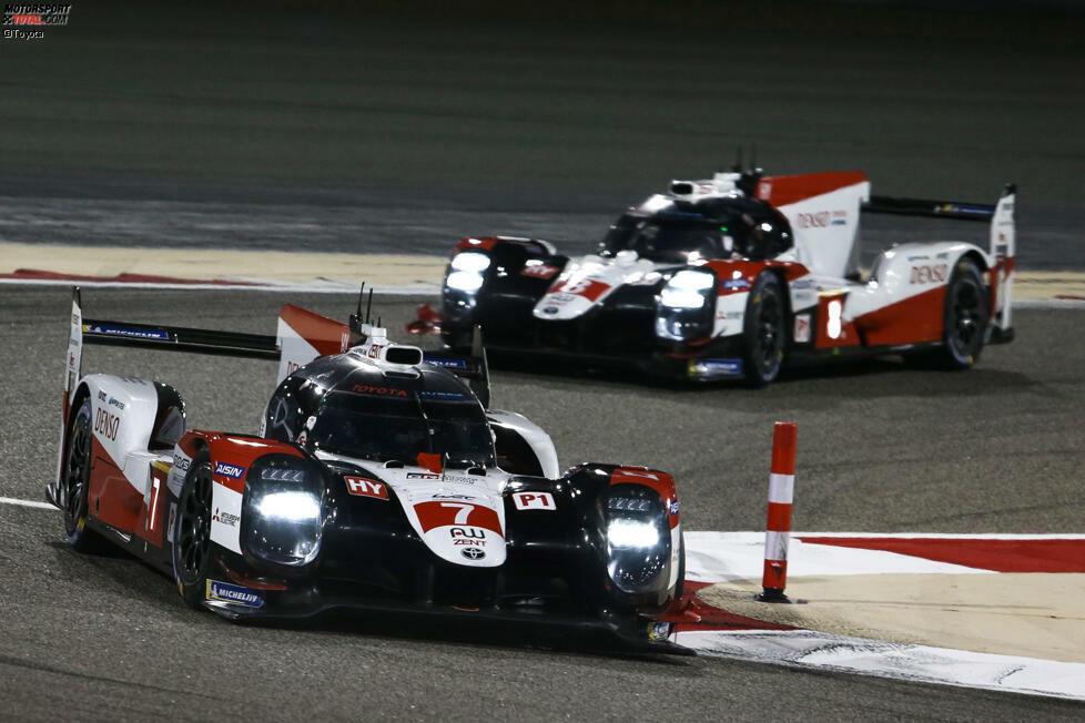 Toyota schickt zwei TS050 Hybrid ins Rennen. Das Auto mit der Startnummer 7 fahren Mike Conway, Kamui Kobayashi und Jose Maria Lopez. Im Auto mit der Startnummer 8 sitzen Sebastien Buemi, Kazuki Nakajima und Brendon Hartley.