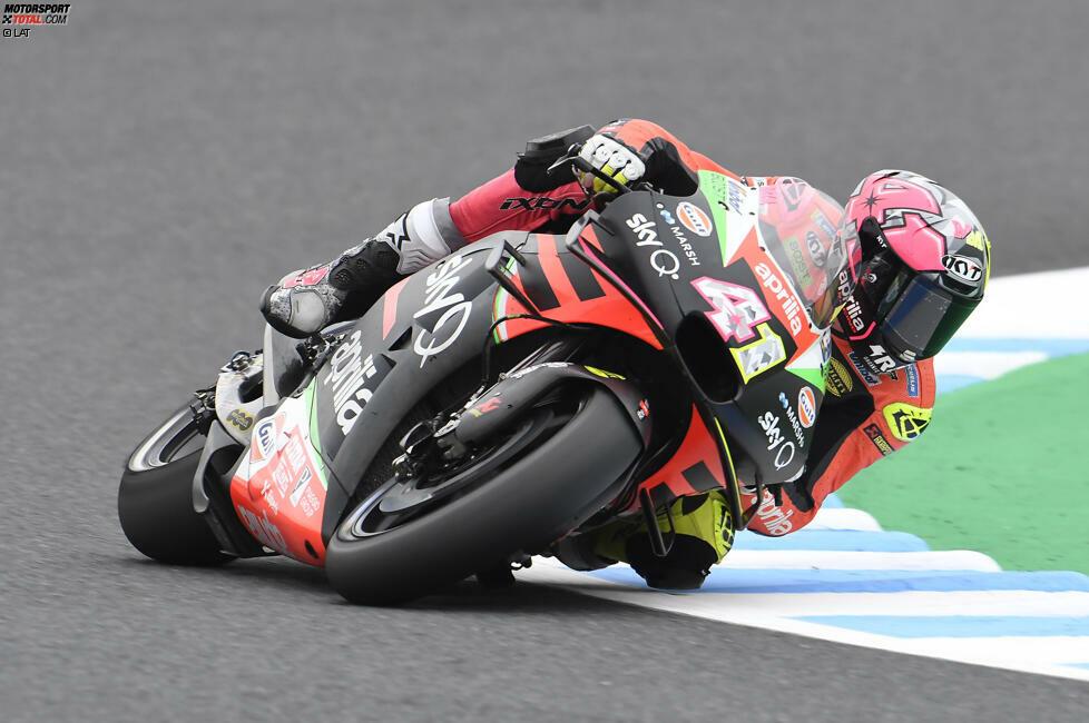 Aleix Espargaro beginnt seine WM-Karriere 2004 und steigt 2009 in die MotoGP auf. Dort tritt er - mit Ausnahme von 2011 - seither an. Ein Titelgewinn gelingt ihm nicht.