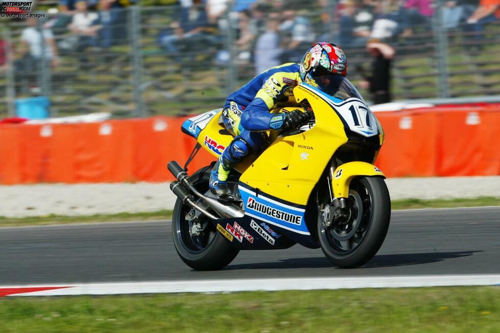 Jurgen Van Den Goorbergh - 2005: Der Niederländer verlässt die MotoGP Ende 2002 (im Bild bei der Dutch TT), kehrt aber drei Jahre später als Ersatzmann für den verletzten Makoto Tamada in zwei Rennen zurück.