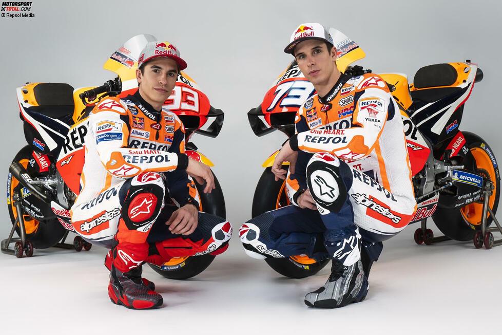Team: Repsol Honda; Fahrer: Marc Marquez #93, Alex Marquez #73