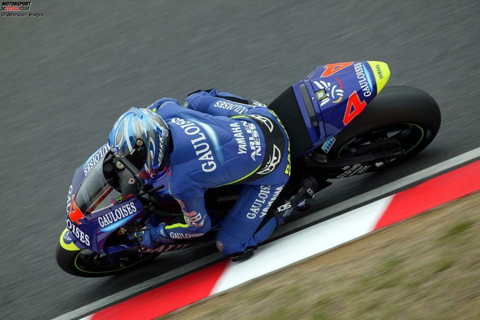 Alex Barros - Yamaha (2003): Nach mehreren Jahren mit der Privat-Honda im Pons-Teams kam Barros nach dem Weggang von Max Biaggi als Speerspitze zu Yamaha. Die Bilanz war jedoch alles andere als erwartet: Mehr als ein Podiumsplatz und Rang neun in der Gesamtwertung waren in seinem einzigen Jahr mit Yamaha nicht drin.