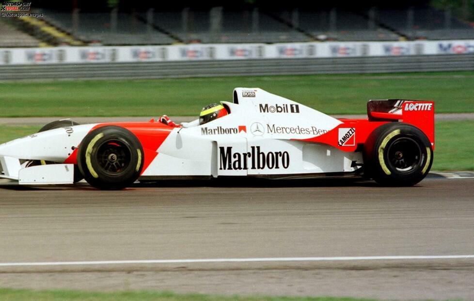1996: McLaren-Mercedes MP4/11 - Seine erste Formel-1-Erfahrung sammelt Ralf Schumacher in einem McLaren in Silverstone, doch für das britische Traditionsteam fährt er keine Rennen. Seine Formel-1-Karriere beginnt erst ...