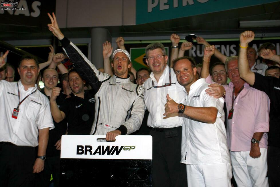 Zweiter Sieg im zweiten Rennen für das damals neue Brawn-GP-Team. Jenson Button triumphiert nach dem Saisonauftakt 2009 in Melbourne auch eine Woche später in Sepang. Es ist einer der verrücktesten Siege seiner Karriere ...