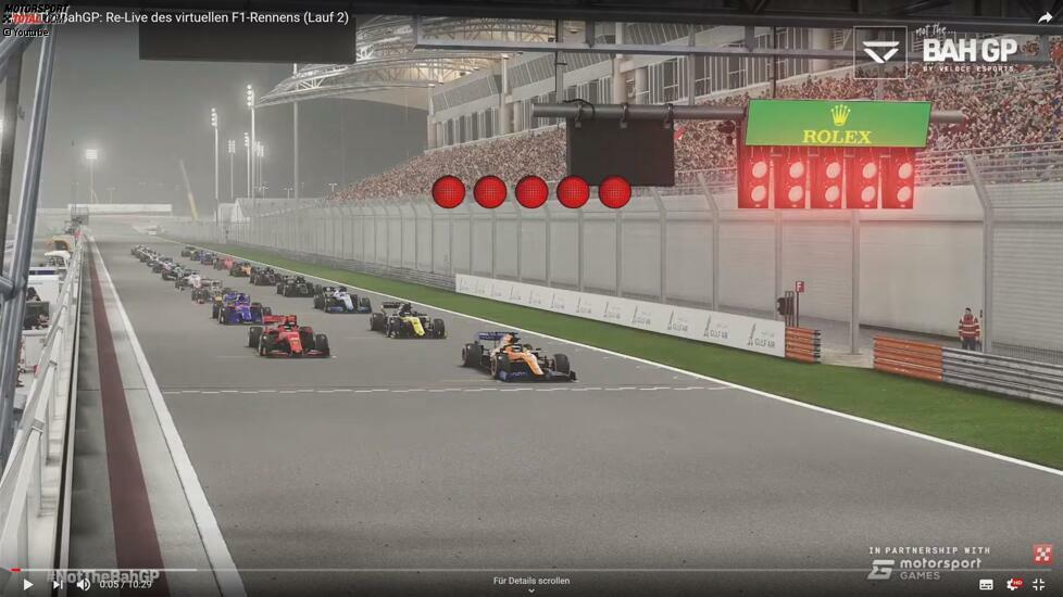 War das virtuelle Formel-1-Rennen ein typisches Sim-Race? Nein, absolut nicht. Ich bin der Meinung, dass die Formel 1 dem