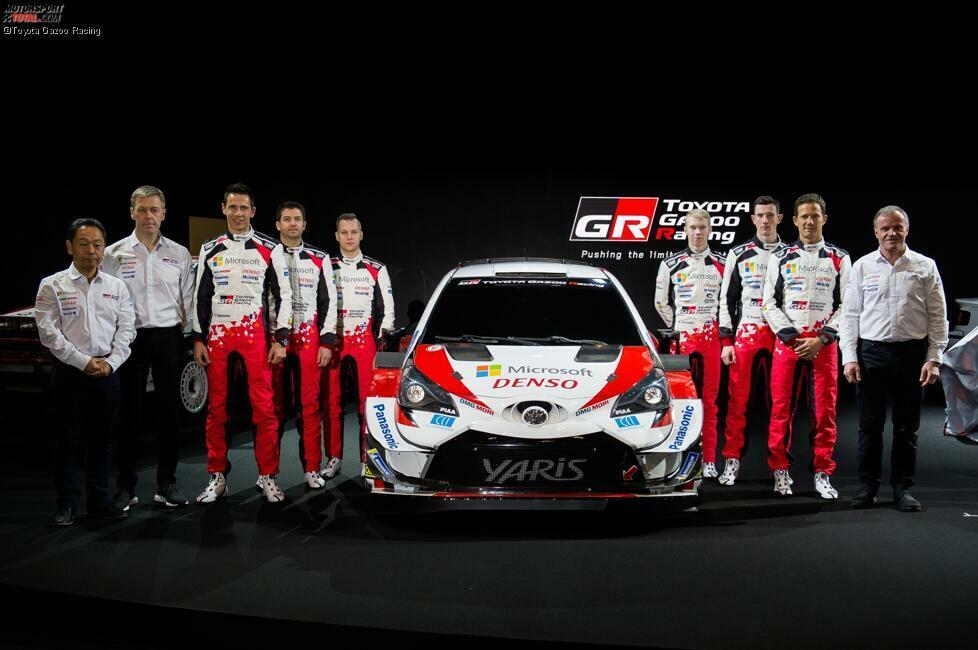Das Toyota-Team für die Rallye-WM 2020