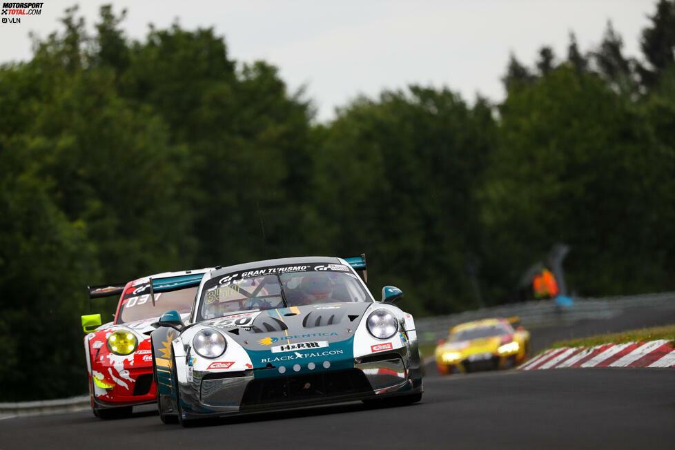 Black Falcon: DABEI! Der Porsche 911 GT3 Cup MR aus der SP-Pro gönnt sich auch Teil zwei des