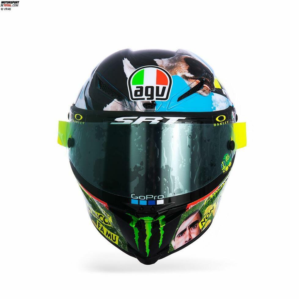 Das Helmdesign von Valentino Rossi in Mugello 2021