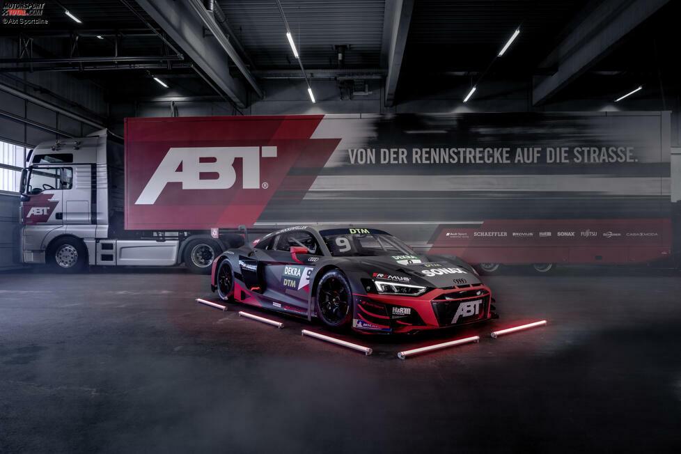 Der Audi R8 LMS mit der Startnummer 9 gehört Routinier und Ex-DTM-Champion Mike Rockenfeller. Sein Bolide ist wie der von Teamkollege Kelvin van der Linde in mattem Grau beklebt, fällt aber mit etwas mehr Rotanteil auf.