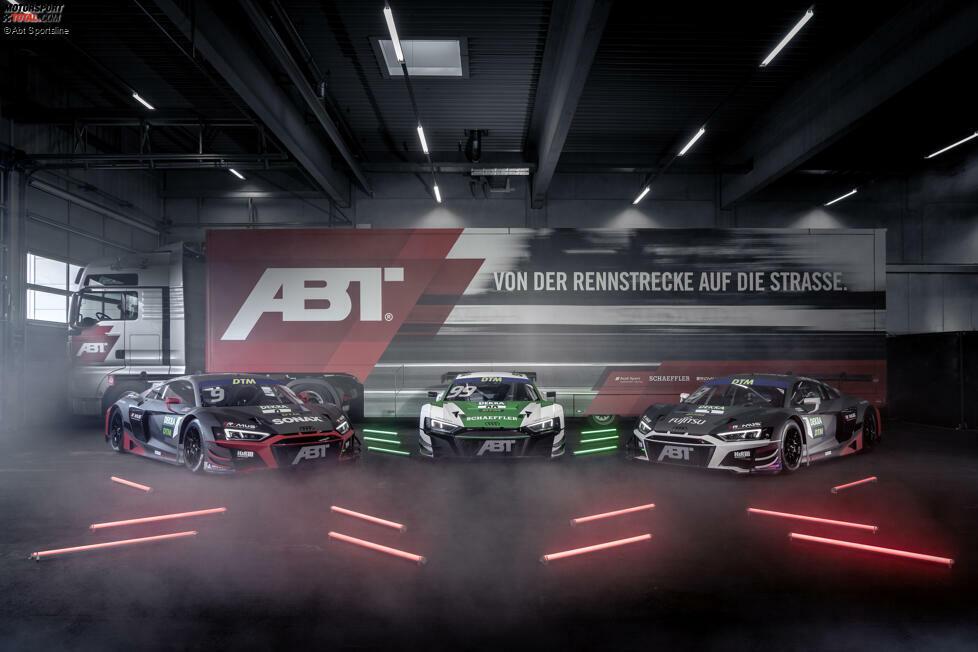 Aller guten Dinge sind drei: Die amtierende DTM-Meistertruppe präsentiert sich dieses Jahr als Audi-Kundenteam mit einem zusätzlichen Boliden und in komplett neuen Farben. Doch wer sitzt in welchem Fahrzeug?