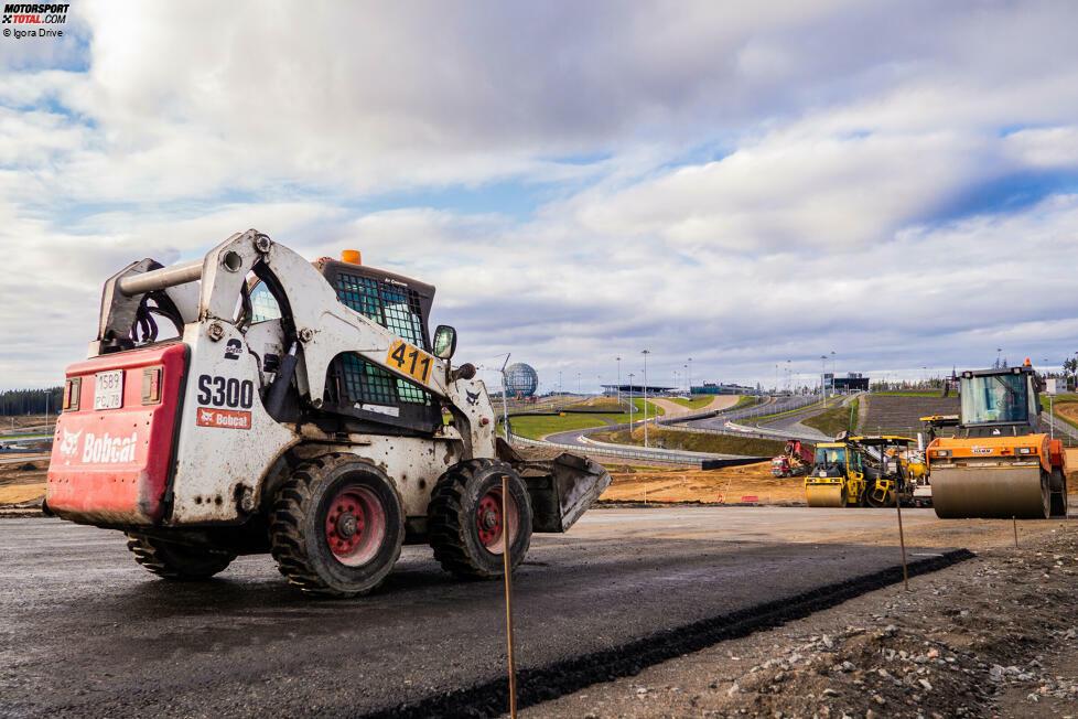Auf dem igora Drive nahe St. Petersburg gehen derzeit Modernisierungsarbeiten voran, bevor die Formel 1 in zwei Jahren dort aufschlagen wird.