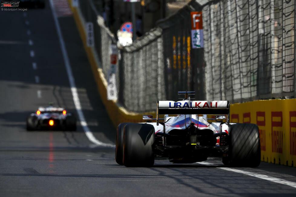 Nikita Masepin (5): Im Qualifying war er dichter dran an Mick Schumacher als auch schon, im Rennen aber fiel er wie so oft sehr deutlich ab. Die Krönung: Das