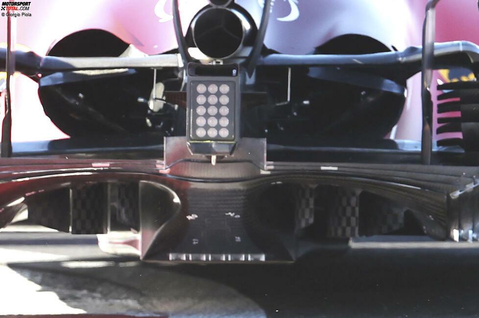 Ferrari SF21: Auspuff und Diffusor
