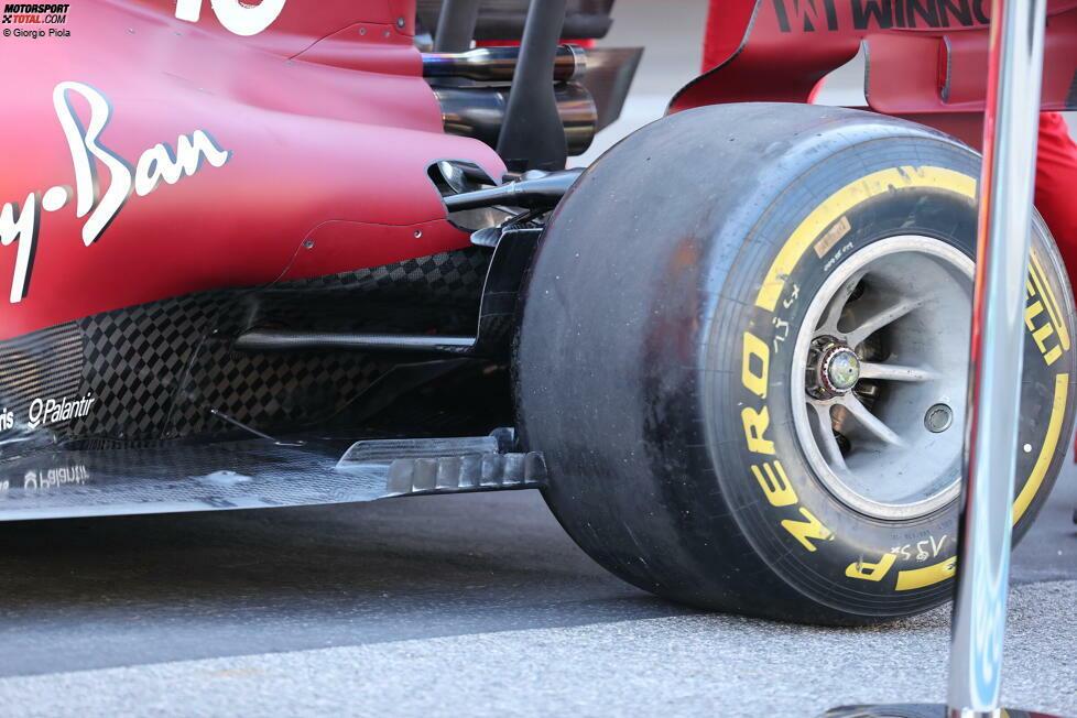 Ferrari SF21: Unterboden