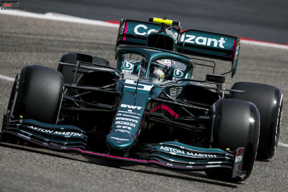 Sebastian Vettel im Aston Martin AMR21