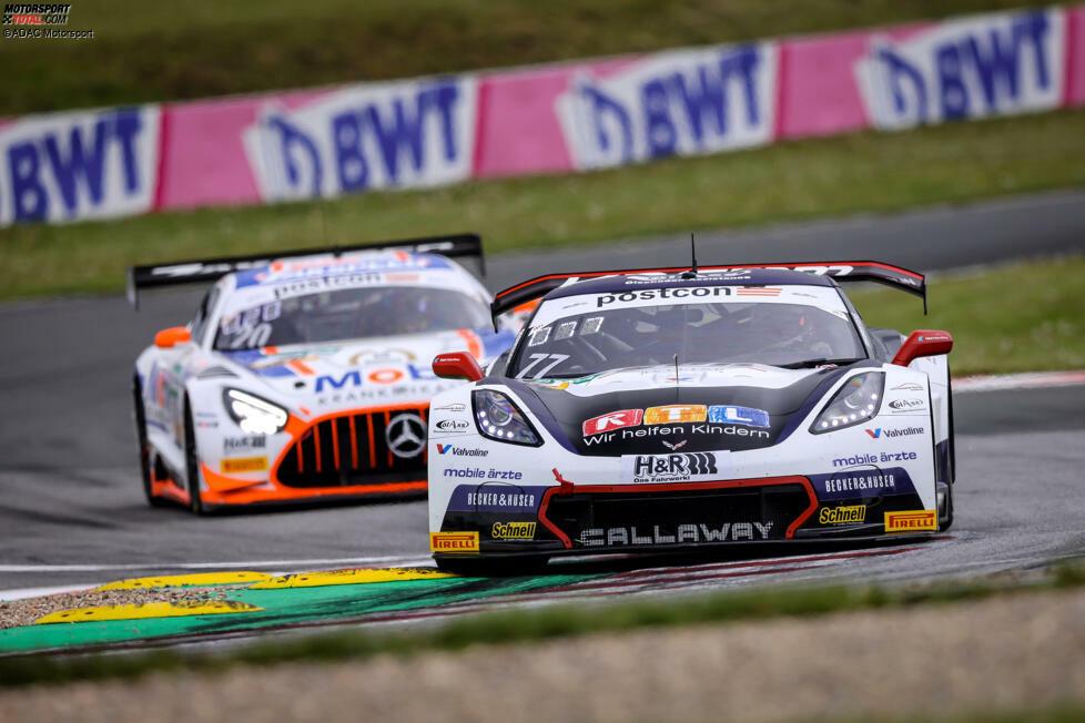 Drei Handvoll: Das ADAC GT Masters startet 2021 in seine bereits 15. Saison. Seit dem ersten Rennen 2007 durchgängig in der Serie am Start: Die Corvette von Callaway Competition.