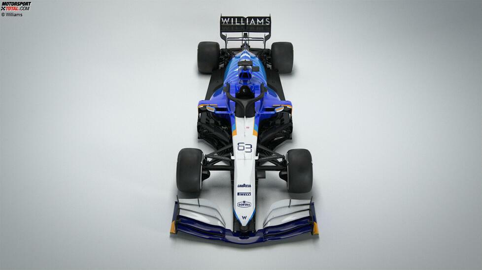 So sieht er aus, der neue Williams FW43B: Das britische Traditionsteam - seit 2020 in neuen Händen - hat das Formel-1-Auto für George Russell und Nicholas Latifi vorgestellt!