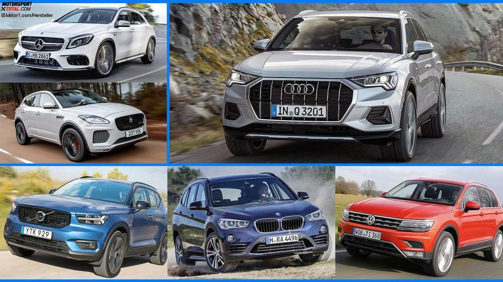 Im November 2018 startet die zweite Generation des Audi Q3. Wie schlägt sich das Kompakt-SUV im Vergleich mit der alten Version und mit der Konkurrenz von BMW, Mercedes & Co? Wir vergleichen.