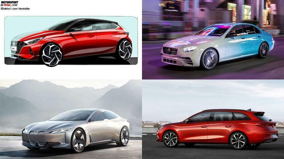Zu den Neuheiten gehören der neue Audi A3, der Fisker Ocean, die neue Generation des Kia Sorento, der neue Hyundai i20, das Facelift der Mercedes E-Klasse, der Seat Leon (inklusive der Kombi-Version Spacetourer), der Skoda Octavia RS iV (inkliusive Kombi) und die neuen Versionen des VW Golf 8: GTI, GTD und GTE. Aber das ist nur ein kleiner Teil der Novitäten. Klicken Sie sich durch unsere Übersicht.