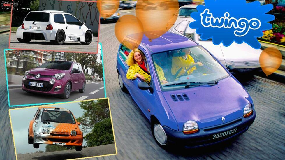 Vom keilfömigen Kultauto bis zur Elektroversion - Die Geschichte des Renault Twingo in 10 Bildern ...