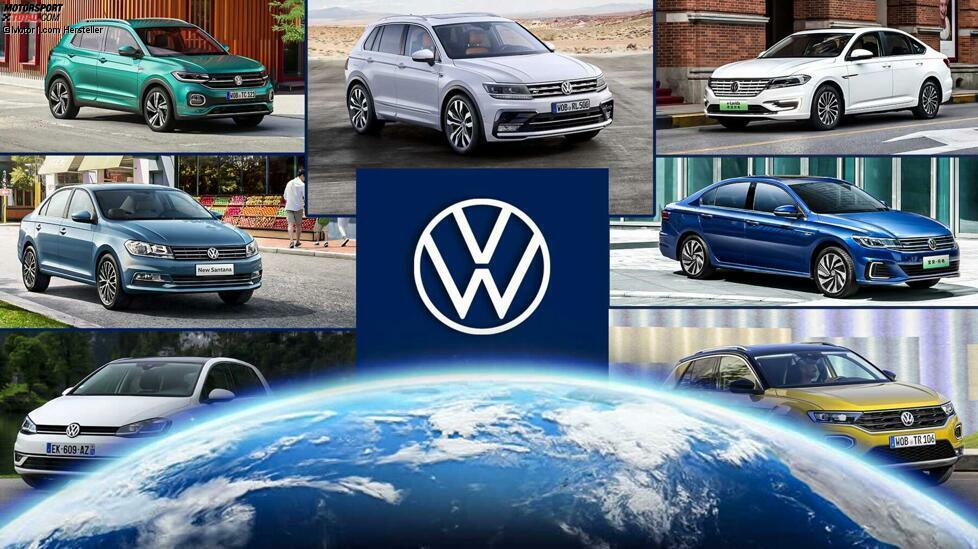 Die Zehn meistproduzierten und meistverkauften Volkswagen der Welt. Der Golf ist nicht die Nummer 1 ...