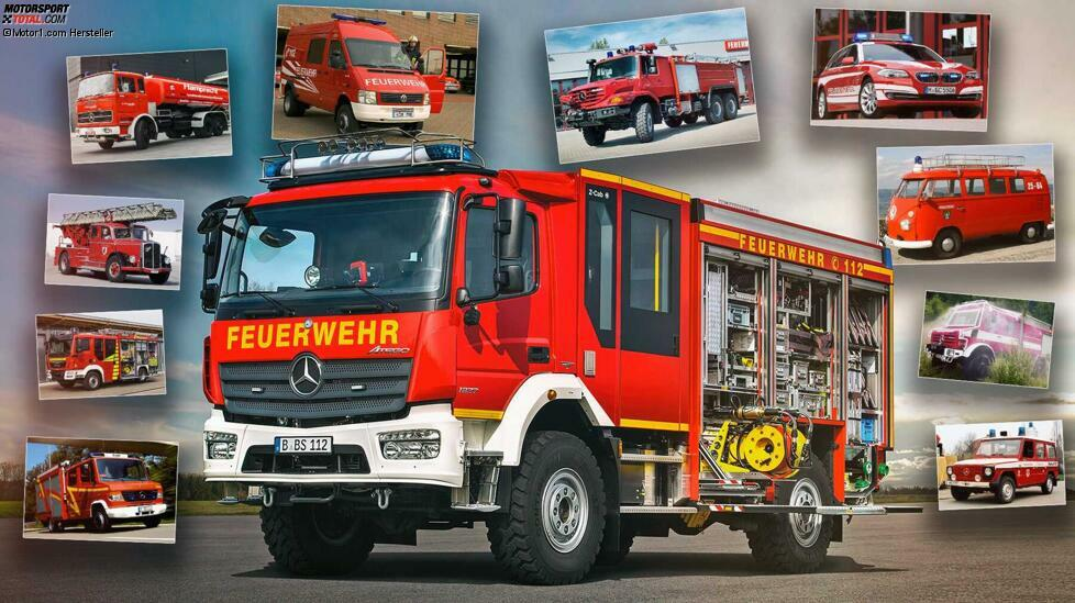 Schweres Gerät aus Gegenwart und Vergangenheit: Unsere Fotostrecke zeigt Gegenwart und Vergangenheit der Feuerwehr-Fahrzeuge ...