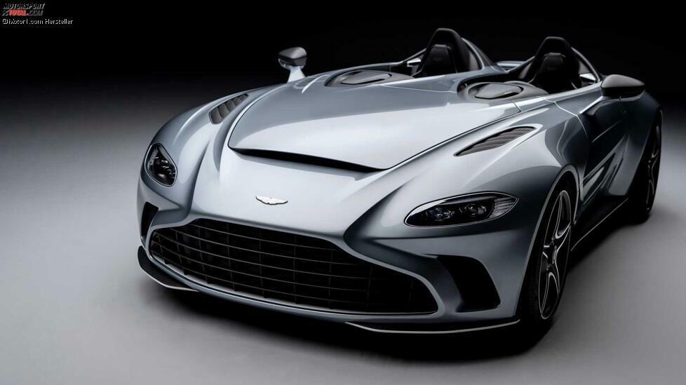 Motor:5,2-Liter-Biturbo-V12 Leistung: 710 PS Spitze: 300 km/h (abgeregelt) 0-100 km/h: 3,5 Sekunden  Aston Martins Neuling hat eine Carbon-Karosserie mit extremem Design und aeronautischen Anklängen. Der zweisitzige V12 Speedster hat weder Verdeck noch Windschutzscheibe. Die Auslieferung soll erst 2021 beginnen, wobei der ungefähre Preis bei etwa 850.000 Euro liegen wird.
