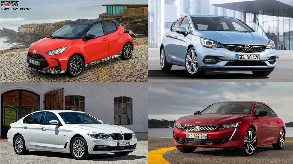 Sparfüchse aufgepasst: Wir haben die sparsamsten Benziner, Diesel und Hybride in den Segmenten B, C, D und E ...