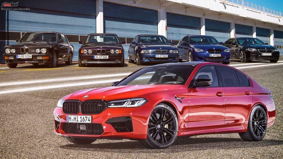 Die legendäre Sportlimousine wird 35 Jahre alt - Wir blicken zurück auf die Modellgeschichte des BMW M5 ...
