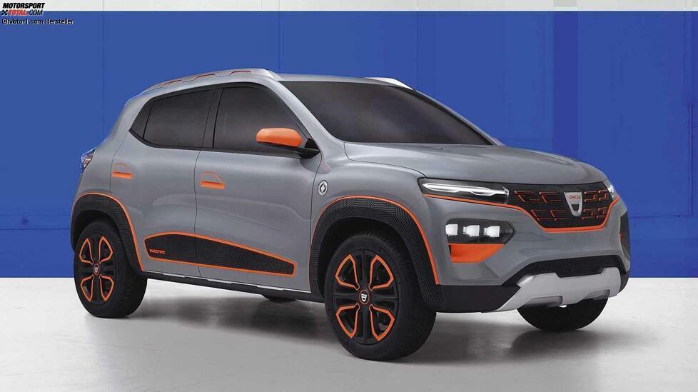 Elektropremiere fürDacia: Die Designstudie Spring Electric ermöglicht einen Ausblick auf das erste Elektroauto der Marke. Der Marktstart für den kompakten Fünftürer ist für 2021 geplant. Noch ist