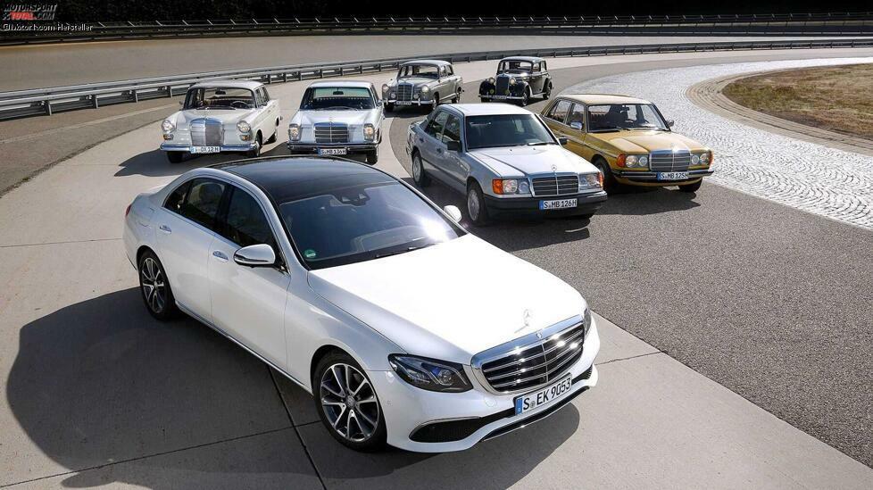 Seit 1947 gibt es zehn Generationen der E-Klasse und ihrer direkten Vorgänger. Wir zeigen die Historie der Mercedes E-Klasse ...