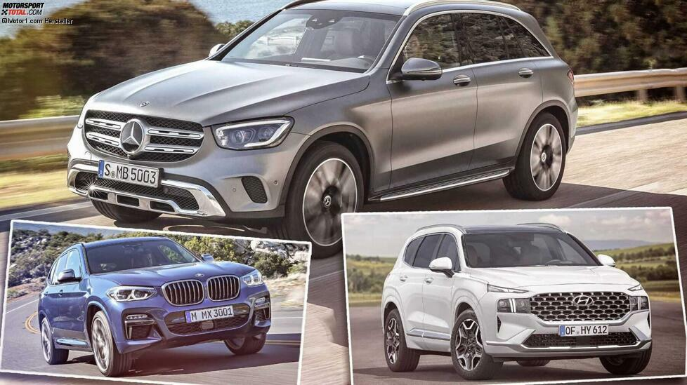 Mittelklasse-SUVs von Audi Q5 bis Hyundai Santa Fe - Jetzt alle Autos des D-SUV-Segments enthalten ...