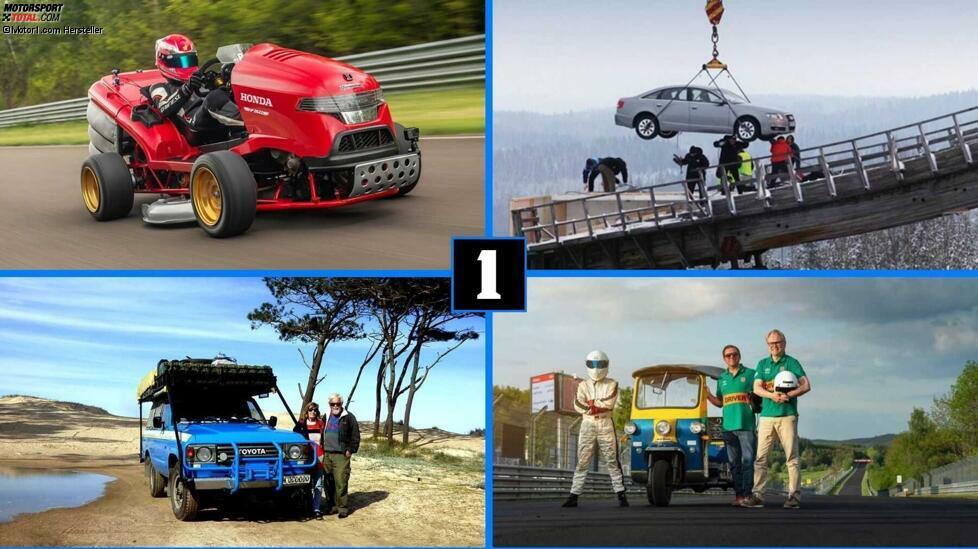 Sieben WM-Titel von Michael Schumacher in der Formel 1 und die Erfolge von Lewis Hamilton sind fraglos beeindruckende Leistungen. Neun Titel (in Folge!) von Sebastian Loeb in der WRC auch. Und Sie können nicht umhin, sich an Andy Greene zu erinnern, der an Land fast 1.230 km/h fuhr. Erst kürzlich beeindruckte der 533 km/h schnelle SSC Tuatara mit dem Weltrekord als schnellstes Serienfahrzeug. Aber in der facettenreichen und verrückten Auto-Welt gibt es genug Platz für noch viel extravagantere Bestmarken. Die Namen der meisten Personen in unserer heutigen Auswahl sind fast niemandem bekannt. Niemand macht T-Shirts mit ihren Porträts. Niemand nimmt sie als Vorbild für seine Kinder. Und doch stehen sie alle für unglaubliche Geschichten. Begleiten Sie uns auf eine Reise zu den abgefahrensten Auto-Rekorden der Welt.