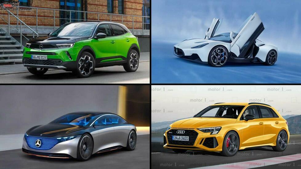 Elektro-Neuheiten, das klassische Mittelklasse-Auto, zwei deutsche Performance-Ikonen und ein italienischer Supersportler - Das sind die zehn Autos, auf die wir uns 2021 besonders freuen ...