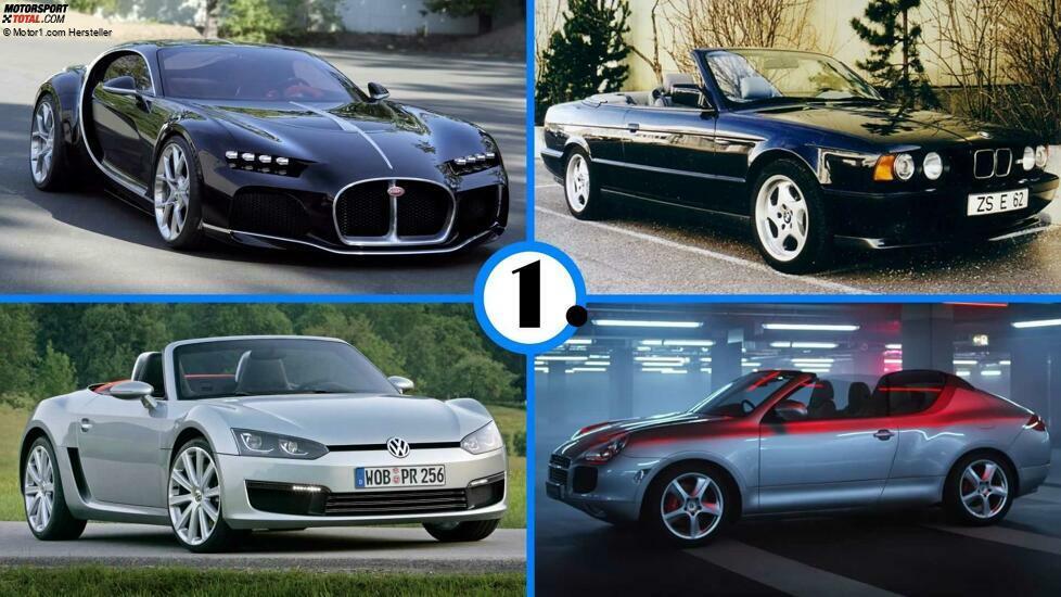 Ein BMW M5 Cabrio oder ein kleiner VW-Roadster wären was gewesen! Diese Autos standen kurz vor der Serienreife ...
