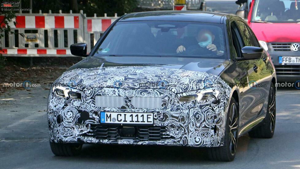 BMW 3er G20 Facelift (2022) auf neuen Erlkönigbildern
