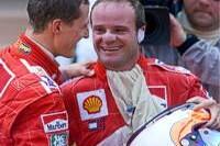 Michael Schumacher und Rubens Barrichello