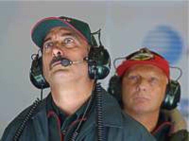 Bobby Rahal und Niki Lauda
