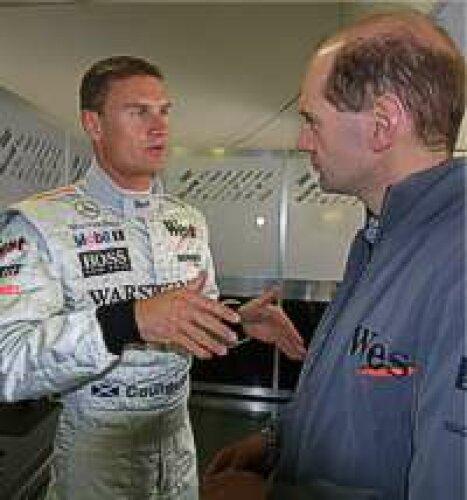 Coulthard und Newey