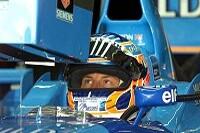 Jenson Button im Cockpit seines Benetton