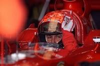 Michael Schumacher in seinem Ferrari
