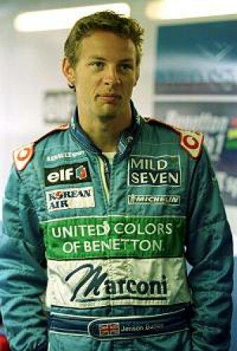 Jenson Button in der Benetton-Garage