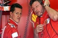 Michael Schumacher und Ross Brawn