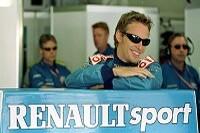 Jenson Button in der Benetton-Renault-Box