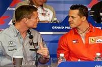 Coulthard und Schumacher