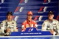 Michael Schumacher, Mika Häkkinen und David Coulthard
